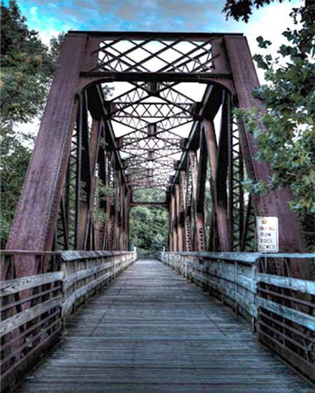 photo: industrial bridge